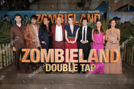 Thomas Middleditch, Avan Jogia, Rosario Dawson, Woody Harrelson, Emma Stone, Jesse Eisenberg, Abigail Breslin and Zoey Deutch