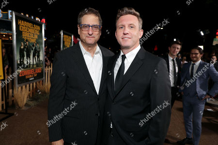 Stock Image of Tom Rothman, Chairman, Sony Pictures Entertainment Motion Picture Group, and Ruben Fleischer, Director/Executive Producer,