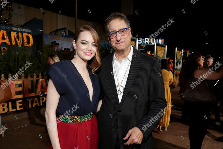 Stock Photo of Emma Stone and Tom Rothman, Chairman, Sony Pictures Entertainment Motion Picture Group,
