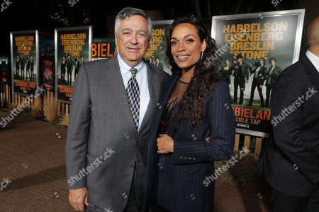 Tony Vinciquerra, Chairman and CEO of Sony Pictures Entertainment, and Rosario Dawson