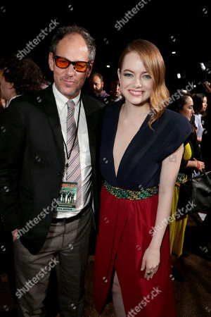 Sanford Panitch, President, Sony Pictures Motion Picture Group, and Emma Stone