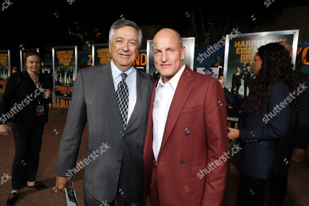 Tony Vinciquerra, Chairman and CEO of Sony Pictures Entertainment, and Woody Harrelson