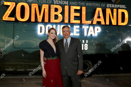 Emma Stone and Tony Vinciquerra, Chairman and CEO of Sony Pictures Entertainment,
