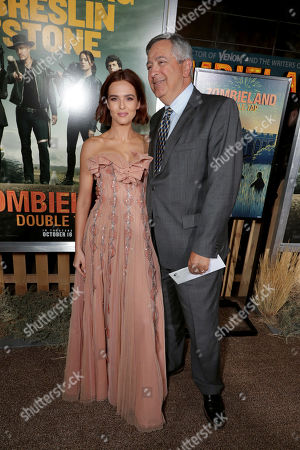 Zoey Deutch and Tony Vinciquerra, Chairman and CEO of Sony Pictures Entertainment,