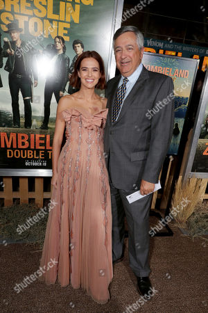 Stock Image of Zoey Deutch and Tony Vinciquerra, Chairman and CEO of Sony Pictures Entertainment,
