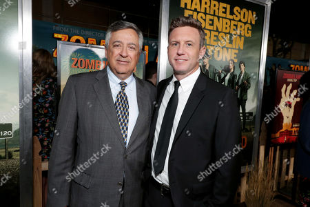 Stock Picture of Tony Vinciquerra, Chairman and CEO of Sony Pictures Entertainment, and. Ruben Fleischer, Director/Executive Producer,