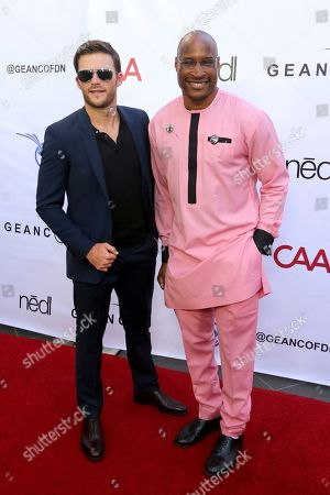 Stock Photo of Scott Eastwood, Afam Onyema. Scott Eastwood, left, and Afam Onyema attend the GEANCO Foundation Hollywood Gala at the SLS Beverly Hills, in Los Angeles