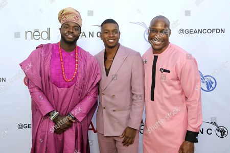 Kevin Olusola, Matt Sallee, Afam Onyema. Kevin Olusola, from left, Matt Sallee and Afam Onyema attend the GEANCO Foundation Hollywood Gala at the SLS Beverly Hills, in Los Angeles
