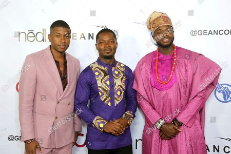 Stock Photo of Matt Sallee, David Oyelowo, Kevin Olusola. Matt Sallee, from left, David Oyelowo and Kevin Olusola attend the GEANCO Foundation Hollywood Gala at the SLS Beverly Hills, in Los Angeles