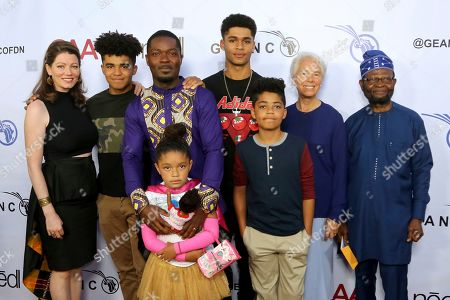 David Oyelowo, Jessica Oyelowo. Jessica Oyelowo, left, David Oyelowo, second from left and their family attend the GEANCO Foundation Hollywood Gala at the SLS Beverly Hills, in Los Angeles