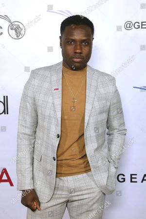 Dayo Okeniyi attends the GEANCO Foundation Hollywood Gala at the SLS Beverly Hills, in Los Angeles