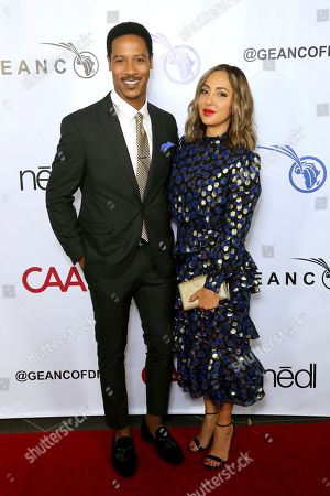 Stock Picture of Brian White, Paula Da Silva. Brian White, left, and Paula Da Silva attend the GEANCO Foundation Hollywood Gala at the SLS Beverly Hills, in Los Angeles