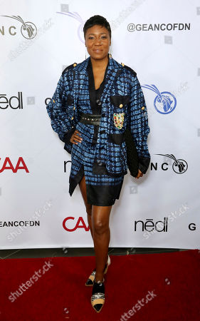 Joy McElveen attends the GEANCO Foundation Hollywood Gala at the SLS Beverly Hills, in Los Angeles