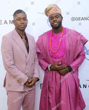 Matt Sallee, Kevin Olusola. Matt Sallee, left, and Kevin Olusola attend the GEANCO Foundation Hollywood Gala at the SLS Beverly Hills, in Los Angeles