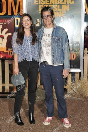 "Naomi Nelson, Johnny Knoxville. Naomi Nelson, left and Johnny Knoxville attend the LA Premiere of ""Zombieland: Double Tap"" at the Regency Village Theatre, in Los Angeles"