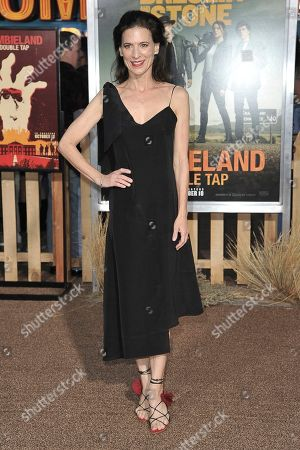 """Stock Photo of Perrey Reeves attends the LA Premiere of """"Zombieland: Double Tap"""" at the Regency Village Theatre, in Los Angeles"""
