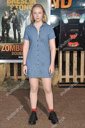 """Stock Image of Molly Quinn attends the LA Premiere of """"Zombieland: Double Tap"""" at the Regency Village Theatre, in Los Angeles"""