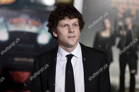 "Jesse Eisenberg attends the LA Premiere of ""Zombieland: Double Tap"" at the Regency Village Theatre, in Los Angeles"