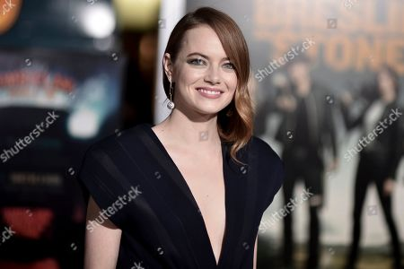 "Emma Stone attends the Los Angeles premiere of ""Zombieland: Double Tap"" at Regency Village Theatre, in Los Angeles"