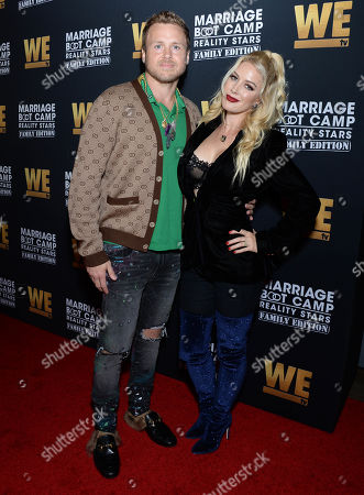 Stock Picture of Spencer Pratt and wife Heidi Montag