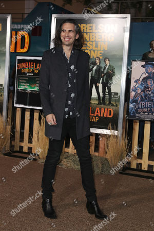 Nick Simmons arrives arrives for the premiere of the movie 'Zombieland: Double Tap' at the Regency Village Theater in Los Angeles, California, USA, 10 October 2019. The movie will be released in theaters 18 October.