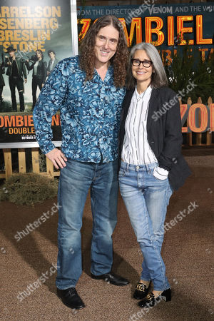 Weird' Al Yankovic (L) and Suzanne Yankovic (R) pose on the red carpet as they arrive for the premiere of the movie 'Zombieland: Double Tap' at the Regency Village Theater in Los Angeles, California, USA, 10 October 2019. The movie will be released in theaters 18 October.