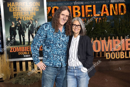 Stock Photo of Weird' Al Yankovic (L) and Suzanne Yankovic (R) pose on the red carpet as they arrive for the premiere of the movie 'Zombieland: Double Tap' at the Regency Village Theater in Los Angeles, California, USA, 10 October 2019. The movie will be released in theaters 18 October.