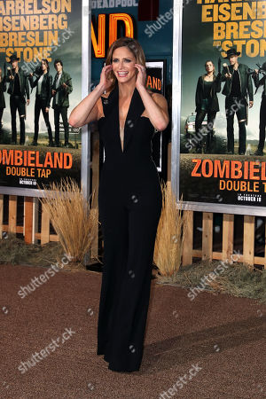 Andrea Savage arrives for the premiere of the movie 'Zombieland: Double Tap' at the Regency Village Theater in Los Angeles, California, USA, 10 October 2019. The movie will be released in theaters 18 October.