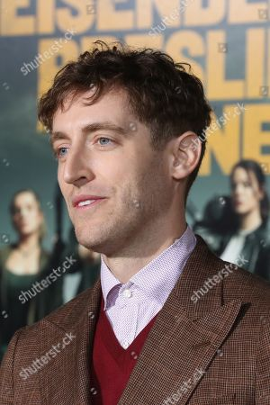 Thomas Middleditch arrives for the premiere of the movie 'Zombieland: Double Tap' at the Regency Village Theater in Los Angeles, California, USA, 10 October 2019. The movie will be released in theaters 18 October.