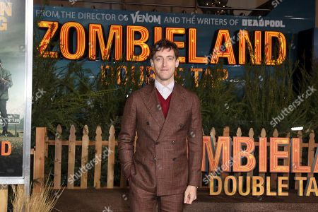 Thomas Middleditch poses on the red carpet as she arrives for the premiere of the movie 'Zombieland: Double Tap' at the Regency Village Theater in Los Angeles, California, USA, 10 October 2019. The movie will be released in theaters 18 October.