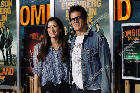 Johnny Knoxville (R) and wife Naomi Nelson (L) pose on the red carpet as they arrive for the premiere of the movie 'Zombieland: Double Tap' at the Regency Village Theater in Los Angeles, California, USA, 10 October 2019. The movie will be released in theaters 18 October.