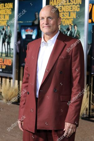 Woody Harrelson poses on the red carpet as he arrives for the premiere of the movie 'Zombieland: Double Tap' at the Regency Village Theater in Los Angeles, California, USA, 10 October 2019. The movie will be released in theaters 18 October.