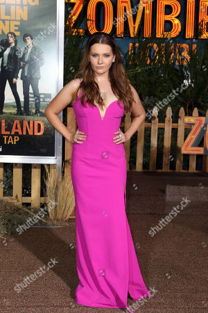 Abigail Breslin poses on the red carpet as she arrives for the premiere of the movie 'Zombieland: Double Tap' at the Regency Village Theater in Los Angeles, California, USA, 10 October 2019. The movie will be released in theaters 18 October.