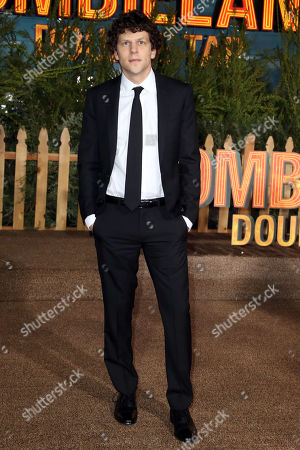 Jesse Eisenberg poses on the red carpet as he arrives for the premiere of the movie 'Zombieland: Double Tap' at the Regency Village Theater in Los Angeles, California, USA, 10 October 2019. The movie will be released in theaters 18 October.