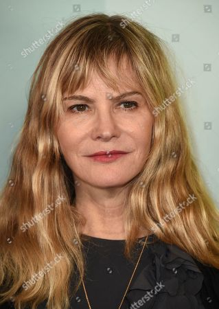 Stock Picture of Jennifer Jason Leigh arrives at the 2019 amfAR Gala Los Angeles at Milk Studios on