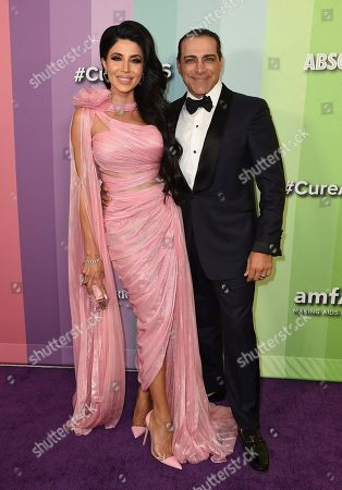 Stock Picture of Leyla Milani, Manny Khoshbin. Leyla Milani and Manny Khoshbin arrive at the 2019 amfAR Gala Los Angeles at Milk Studios on