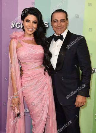 Stock Photo of Leyla Milani, Manny Khoshbin. Leyla Milani and Manny Khoshbin arrive at the 2019 amfAR Gala Los Angeles at Milk Studios on