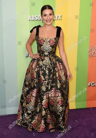 Lea Michele arrives at the 2019 amfAR Gala Los Angeles at Milk Studios on