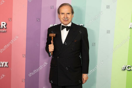 Swiss art dealer Simon de Pury poses for the photographers on the red carpet at the Milk Studios in Los Angeles, California, USA, 10 October 2019. The amfAR is an international nonprofit organization dedicated to the support of AIDS research, HIV prevention, treatment education, and the advocacy of AIDS-related public policy.
