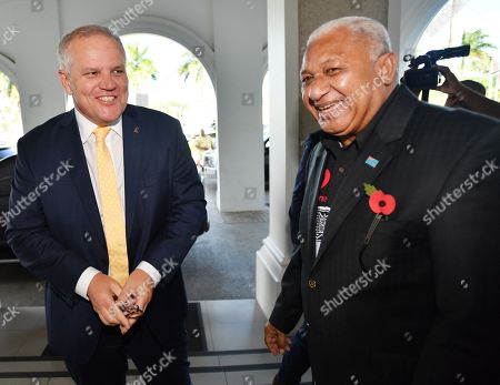 Editorial picture of Australian Prime Minister Scott Morrison visits Fiji, Suva - 11 Oct 2019