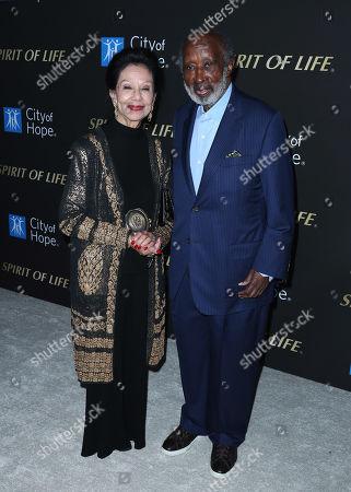 Jacqueline Avant and Clarence Avant