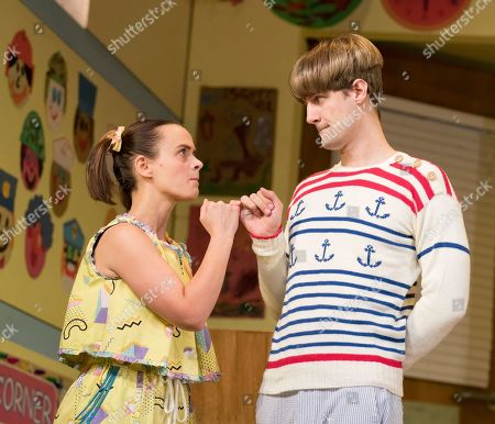 Charlie Russell as Katie, Henry Shields as Archie,