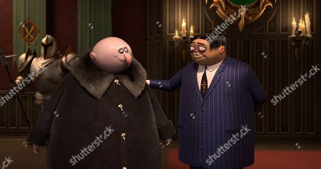 Uncle Fester (Nick Kroll) and Gomez Addams (Oscar Isaac)