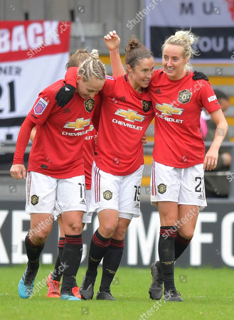Stock Picture of Jane Ross of Manchester United Women celebrates after scoring (0-3)