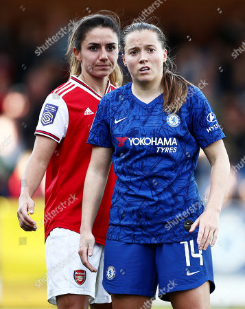 Stock Photo of Fran Kirby of Chelsea and Danielle van de Donk of Arsenal.