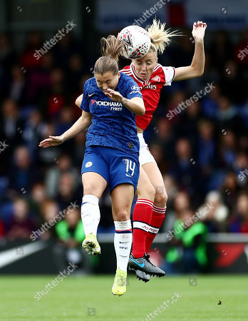 Fran Kirby of Chelsea and Leah Williamson of Arsenal.