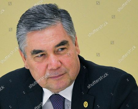 Turkmenistan's President Gurbanguly Berdymukhamedov attends  a  meeting of the Council of the Commonwealth of Independent States (CIS) Heads of State in Ashgabat, Turkmenistan, 11 October 2019. The CIS leaders meet in Ashgabat to review trade, economic, social, foreign policy and security cooperation of their countries.