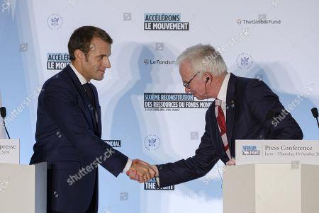 President Emmanuel Macron and Peter Sands