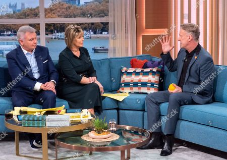 Stock Image of Eamonn Holmes and Ruth Langsford with Stephen Tompkinson