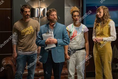 Ryan Gaul as Cam, Zach Galifianakis as Zach Galifianakis, Jiavani Linayao as Boom Boom and Lauren Lapkus as Carol